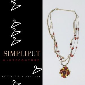 Faux Gemstone Beaded Statement Necklace